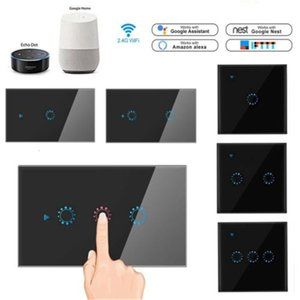 Smart Home WiFi Toque Wall Light 1/2/3 Gang interruptor Painel EUUK USAU para Alexa Google para IOS Android
