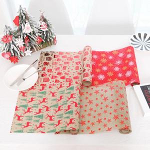 Neues Weihnachtsdekoratives Tischläufer-Tischdecke-Polyester-Weihnachtsflagge für Haupthochzeitsfeiertags-Weihnachtsdekorationen Freies Verschiffen