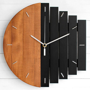 Slient Xylophon aus Holz Wanduhr Moderne Design Vintage rustikale Shabby Uhr Quiet Art Uhr Home Decoration