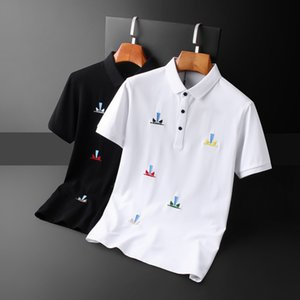 Men's Wear 2020 Lapel Short Sleeve T T-shirt Personality Eye Embroidery Youth Paul 0220-01