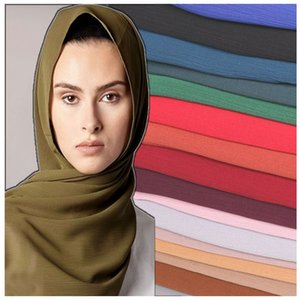 Free Shipping Wholesale Chiiffon Silk Solid Shawl Wrap Unisex Scarf Women's Scarf Pure 25 Color Scarf