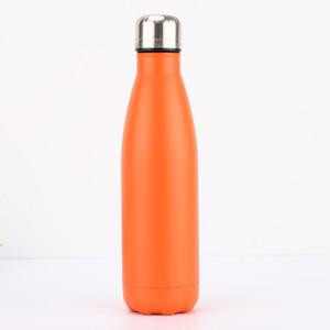 Botella de vacío en forma de termo J Botella de agua en forma de doble pared Forma de cola de acero inoxidable con aislamiento al vacío Botella de agua de viaje