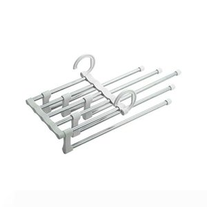Stainless Steel Pants Hangers Jeans Clothes Organizer Folding Storage Rack Space Saver Storage Rack for Hanging