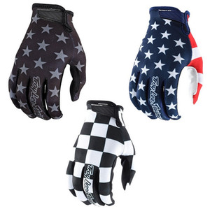 TLD bandera americana dedo largo verano motocicleta cross country guantes guantes de carrera bicicleta bicicleta guantes tricolor