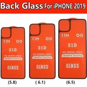 Для iPhone 11 PRO Max 5,8 6,1 6,5 Заднее стекло в мешок OPP 21D назад Закаленное стекло экрана телефона Protector
