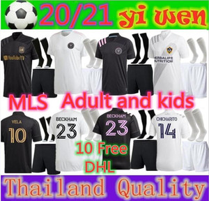 Adulti e bambini 2020 Inter Miami Beckham 23 Black LAFC Carlos Vela 10 maglie calcio 2021 di Los Angeles FC LA Galaxy Chicharito