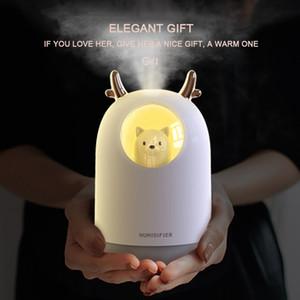 ELOOLE 300 ml USB hava nemlendirici Ultrasonik sevimli Pet serin-Mist aroma YAĞI Uçucu USD difüzör Mist Maker ile LED lamba Y200416