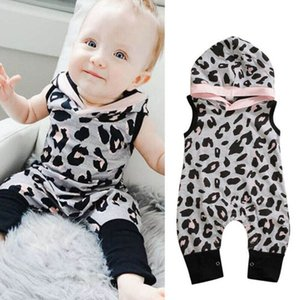 Ins leopard baby romper Summer 2020 hooded newborn rompers baby girl clothes infant jumpsuit girls one piece clothing wholesale B1483