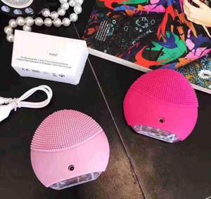 미니 클렌저 mini2 전기 초음파 USB Rechargeab 아름다움 장비 실리콘 방수 클렌저 깨끗한 모공 드롭 배송
