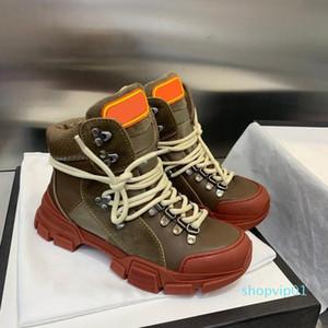 Luxo FlashTrek de alta top Unisex Mens Ankle Sapatinho Caminhadas Militar Bota Mulheres plataforma desenhista calça Martin botas Sneakers lll