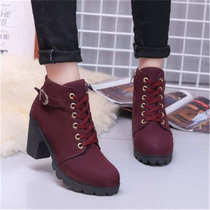 Женская shoes2019 новые женские туфли короткие сапоги женские сапоги Мартин сапоги женские пояса толщиной пряжки с обувью женщин тройные