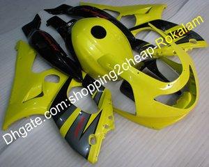 Hight Quality Cowlings 1997-2007 YZF600R Ensemble de carénage complet pour Yamaha YZF-600R Thundercat 97-07 Jaune Black Moto Fixes