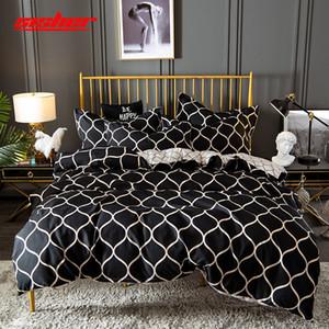 Sisher Печатный комплект постельных принадлежностей размер короля пододеяльник наборы с наволочки Single Double Full Queen Утешитель Пододеяльники Постельные принадлежности