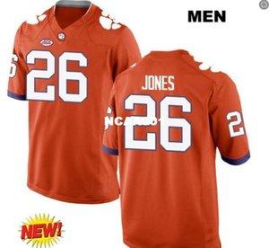 Hombres Clemson Tigers Sheridan Jones # 26 bordado completo real Tamaño de camiseta de universidad S-4XL o cualquier nombre o número personalizado