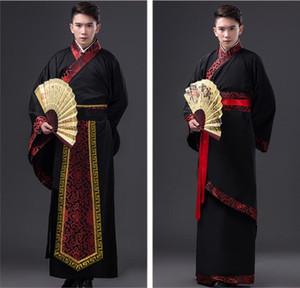 Mens Hanfu Традиционная китайская одежда Древний костюм Фестиваль Outfit Этап Performance Одежда Народные танцы костюмы