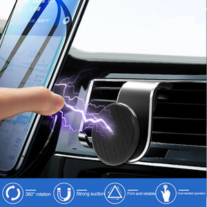 Universal Telefone Magnetic Holder Clip Car Interior Air Vent Bracket Telemóveis GPS stand automóveis Acessórios