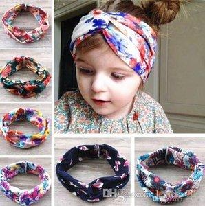 15 Baby Girls Cross Headbands 아동용 면화 플라워 머리 장식품 헤드 밴드 어린이 기념일 헤어 액세서리 Princess Floral Headdress Kha407
