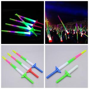 LED de conciertos luz palillos fluorescentes 4 Knobble ventiladores animadora lámpara palos de conciertos telescópicas palillos LED T3I5400
