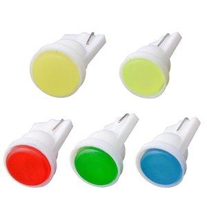 100шт LED T10 W5W COB Клин двери автомобиля Instrument Боковых лампочки свет автомобиль 1.5W 1 COB LED Wedge дверь Instrument сторона колба лампы