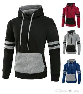 Men Hoodies Autumn Male Long Sleeve Patchwork Streetwear Hoodie Black Red Big Size Sweatshirt for Men