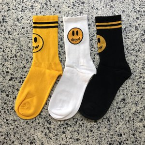 Мода рисовала дом носков хлопка нижнего белье Носков унисекс Мужчины Женщина Черной Желтый Хип-хоп Дизайнерские носки