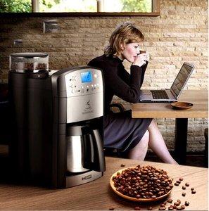 DCM-208 completa máquina automática de café home / negócios nova geração máquina de café expresso indução inteligente 10 copos um tempo