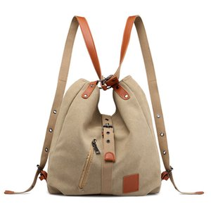 Canvas Women Shoulder Bags High Quality Multifunction Women Back Pack For Students School Travel Bags Large Capacity CX200529
