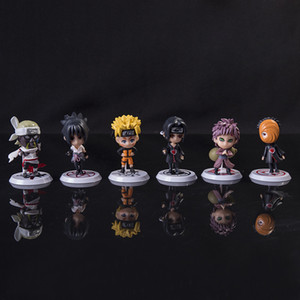 6 pieces   wholesale 7cm Japanese anime Ninja action puppet PVC Collection Edition Sasuki Yimu obitogala birthday gift toy