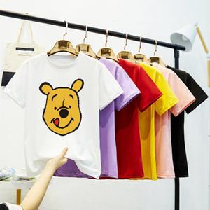 Cem Up Tendência Printing Xia Collar manga curta T Female T-shirt Jacket LoversUWKX