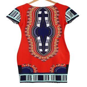 Femmes traditionnelle africaine Imprimer Dashiki Robe courte manches Party Dress Nouveau