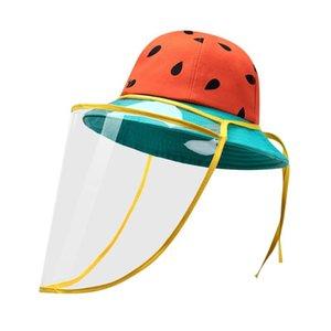Multi-função de protecção Bucket Hat Cap Anti-infecção dos olhos Proteção Hat Anti-saliva Prevent Gota Máscara Facial Transparente