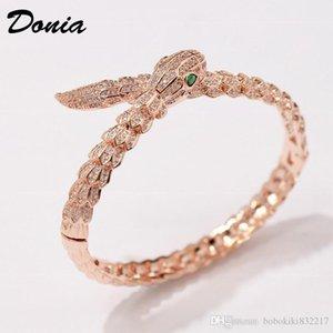 gioielli Donia tre colori galvanica esagerato micro intarsio zircone animale personalità braccialetto registrabile regalo animale aggressivo
