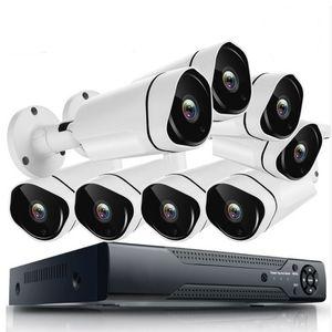 Full HD 8-канальный AHD Kit Домашняя система наружного видеонаблюдения 8 Channel1080P Водонепроницаемый комплект камеры видеонаблюдения с DVR