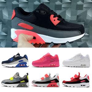 Лучшие Cushions Детская обувь Детская обувь малышей тройной черный белый синий розовый вольтовых Мальчики Девочки Молодежные Детские тренеры дизайнерские кроссовки