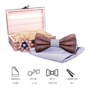 2020 Wood Wooden Bow Tie camisas Floral Bowtie modis tie ties for men cravate homme noeud papillon femme
