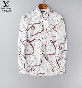 2020 diseñadores de algodón casuales para hombre de las camisas de vestir de alta calidad hombres de la camisa camisa de la manera muchos colores sólidos manga larga masculina camisa polo M-3XL # 033