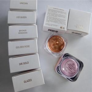 Toptan 6 Renk Kozmetik Yüz Fosforlu Bronzlaştırıcı Aydınlatıcı Likit Fondöten Göz Farı Krem Pigmentli Tek fosforlu makyaj