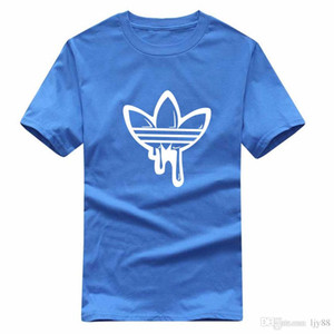 100% хлопок 2020 Мужская мода шею с коротким рукавом тройник камни Hip Hop Толстовки высокого качества Мужчины Tshirt Island M-2XL