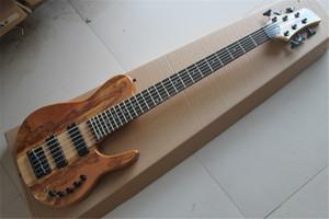 Бесплатная доставка завод на заказ из натурального дерева активных 9В Пикапы Fodera бабочка 6 Струна электрической бас гитары