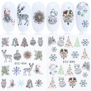 사진으로 여성 패션 눈사람 산타 크리스마스 네일 아트 스티커 3 년 패턴