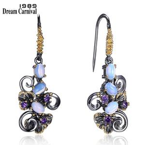 Dreamcarnival1989 recomienda Beautiful Flower Earings Gift For Women Must Have Vintage Design Cuelga el envío de la gota Joyería We3857 C19041101