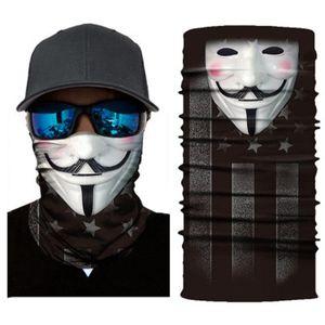 Máscara Motociclista Máscara Facial Crânio fantasmas máscaras Escudo Balaclava lenço principal Neck Masque Halloween Mascara Bandana Moto