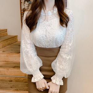 BOBOKATEER белых кружев блузки женщины рубашка chemisier tunique ф женских топы и блузку женщина 2019 blusas Camisas Mujer bluzka