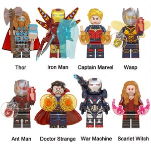 Thor Iron Man Captain Marvel Ant Man Doctor Strange War Machine Scarlet Witch Avengers Mini Action Figure Toy Super Hero Building Blocks