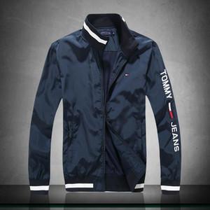 Erkek Tasarımcı Ceket Sonbahar Kış Ceket Rüzgarlık Marka Ceket Fermuar Yeni Moda Ceket Açık Spor Ceketler Artı Boyutu erkek Giyim