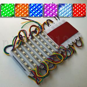 Süper Parlak Ön Cam Harf Sign için 5050 RGB LED Modül Işık Flex Şerit Bant Lambası 5LEDs 12V IP65 su geçirmez Çoklu Renk Değişimi