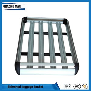 Car Roof Frame Aluminum Roof Rack Universal basket Travel Frame Double layer Lage box 127*90 cm
