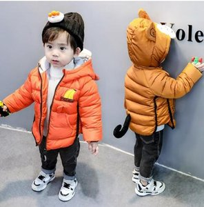 Мальчик зима обезьяна пальто куртка 2019 корейская версия детей мультфильм ватник куртка ребенка