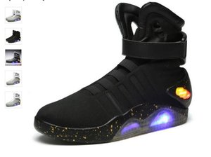 Air Mag High Quality Limited Edition Back To The Future Soldier Schuhe LED leuchtende Light Up Herren Schuhe Mode Led Schuhe