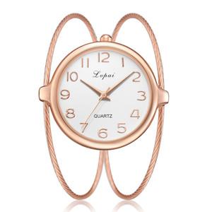 Chegada nova Luxo Genebra Pulseira de Aço Inoxidável Relógios Ocasionais dos homens Mulheres Se Vestem de Quartzo relógios de Pulso Relogio feminino 2019 Relógio